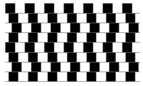 Are the horizontal lines parallel, or do they slope?