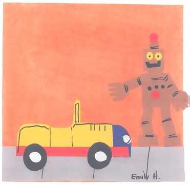 A robot and a car toy