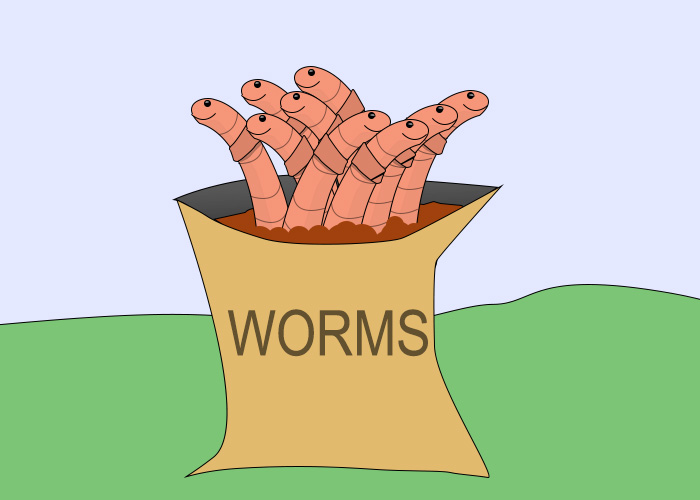 worms in a bag