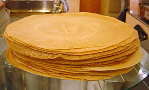 Stack of crepes