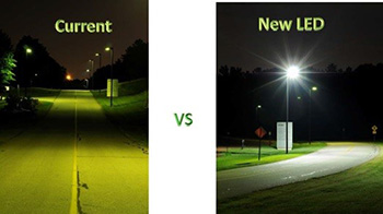 Current lights vs new lights at NIEHS